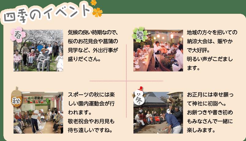 四季のイベントのイメージ